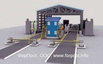 Досмотровое оборудование - эстакады, транспортные шлюзы